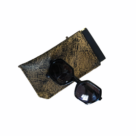 Etui à lunettes Noir et or