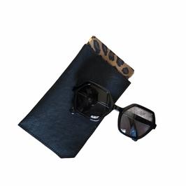 Etui à lunettes Noir et leopard