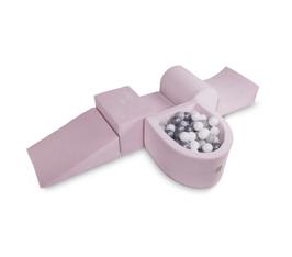 MeowBaby® Schaumspielset mit Mini-Bällebad - 100 Bälle, rosa