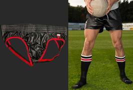 Barcode Berlin Underwear-Set schwarz/rot