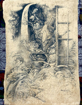 「見滝」 F6 ペン画