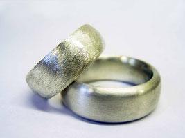 Ringe für Paare aus Sterling Silber Mattiert
