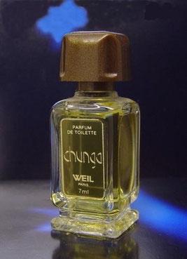 CHUNGA - PARFUM DE TOILETTE 7 ML - MINIATURE SEULE SUR PIED-DOUCHE