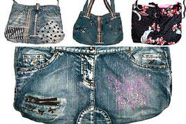 de-lux Jeans-Henkeltasche recycelt in Handarbeit