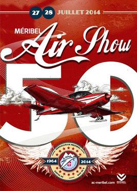 Meribel Airshow 2014 50 ans  aeroclub show aerien 2014 montagne photos meribel air show affiche