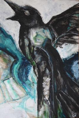 Raven,  Acryl auf Leinwand, 78cm x 115cm, 2008