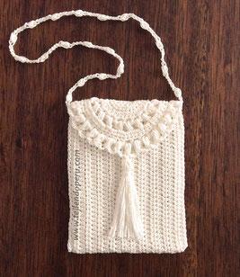 Monedero o bolso de una pieza tejiendo per - Como hacer bolsos tejidos ...