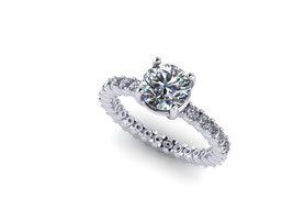 Emma Hedley Jewellery platinum and diamond engagement ring