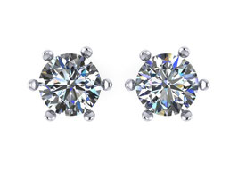 Emma Hedley 1ct Platinum and diamond stud earrings