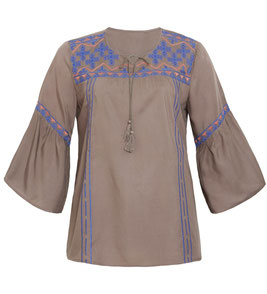 braune Bohemian Bluse