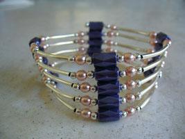 Bijou magnétique avec aimants bleu nuit perles synthétiques