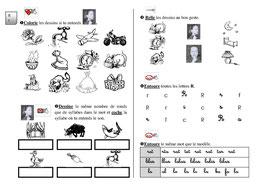 Fiche exercice 1 : dscrimination phonologique et visuelle