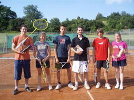 Gewinner: von links: Michael Heere, Anne Dietzel, Pascal Topitsch, Florian Weber, Tobi Dohmen und Martina Heere