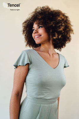 Brautjungfern Top, Zweiteiler, Bridesmaids Shirt