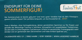 Ladies First Hamm - Endspurt zur Sommerfigur!