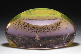 Goodbye Stanislaw Lem II. | kiln cast, grinded, fused, hand polished glass | 40 x 22 x 20 cm | 2006 | ●