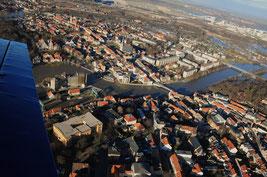 Luft Bilder Hochwasser Bernburg