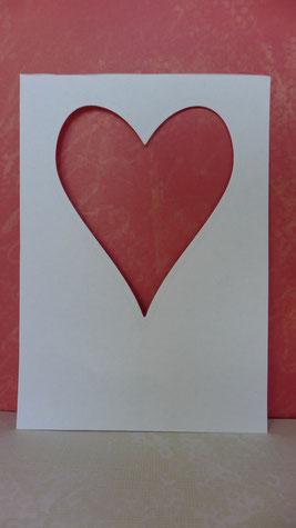 """Valentinstag - """"Last minute""""-Grußkarten - DIY-Projekt für Eilige - die fertige Schablone"""