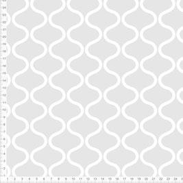 Bio-Stoff mit skandinavischem Muster in Grau zum Nähen