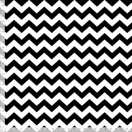 Stoff für Wohnzimmer und Küche mit schwarz-weißem Muster zum Nähen - andere Farben möglich