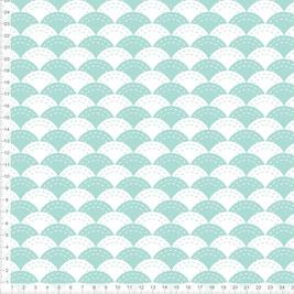 Stoff mit japanischem Wellen Muster in Mint zum Nähen