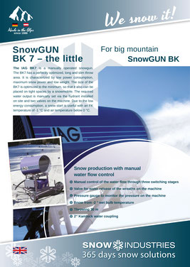 Product information SnowGUN BK7