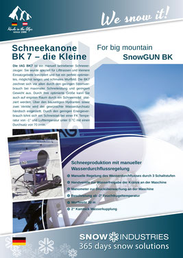 Produkt-Info SnowGUN BK7
