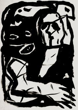 Monster, 100/70 cm, Acrylfarbe auf Papier, 1989