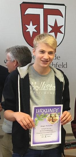 Gregor Protschka, Dritter der U16