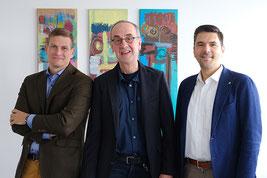 Kanzler Dr. Arne Lankenau, Präsident Prof. Dr. Willehad Lanwer und Vizepräsident Prof. Dr. Michael Vilain (v.l.n.r.) | Foto: Ehrig, EHD