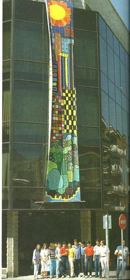 Centro Cívico 1987. Cortesía de Alberto García