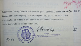 exit  certificate for Oskar and Fridl
