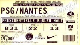 2007-04-21  PSG-Nantes (33ème L1)bis
