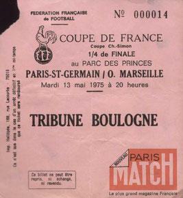 1975-05-13  PSG-Marseille (Quart Finale Retour CF)