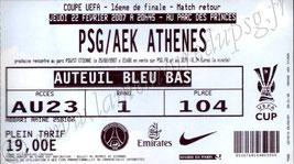 2007-02-22  PSG-AEK Athènes (16ème finale retour C3, bis)