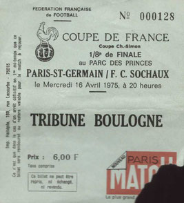 1975-04-16  PSG-Sochaux (8ème Finale Retour CF)