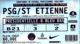 2007-02-25  PSG-Saint Etienne (26ème L1, bis)