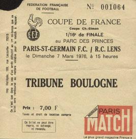 1976-03-07  PSG-Lens (16ème Finale Retour CF)