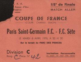 1976-04-06  PSG-Sète (8ème Finale Aller CF, Invitation)