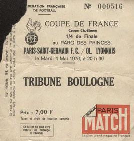 1976-05-04  PSG-Lyon  (Quart Finale Aller CF)