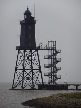 Leuchtturm Obereversand (kann mit und ohne Führung besichtigt werden).