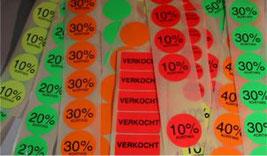 prijsetiketten rond 40 mm fluor ronde etiketten kleuren geel groen rood oranje versteden tilburg online bestellen kopen
