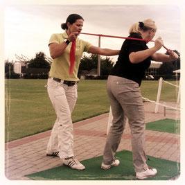 Golfspezifische Aktivierung der Muskulatur.
