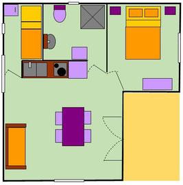 plan cottage chalet gers