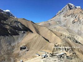 トロンパス手前ハイキャンプ(4800m)
