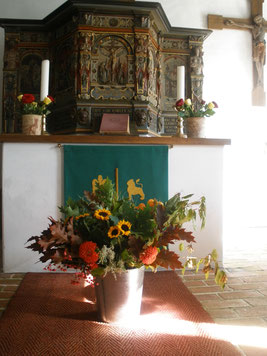 Erntedank in Olands Kirche