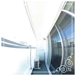 バルコニー↓パノラマで内覧体験できます。↓ユニテ201号室-Uinte-201