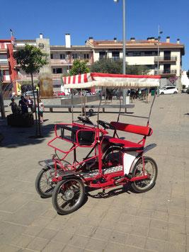 carrito, bicicleta 4 rodes, bike 4 wheels, bicicletas cuatro ruedas alquiler rent
