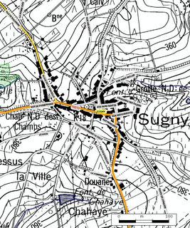 Le relief de Sugny