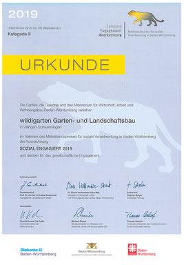 sozial engagiert Baden-Württemberg Auszeichnung wildi